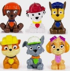 Paw Patrol Mini Figures Set of 6 - Rocky, Zuma, Skye, Rubble, Marshall & Chase: Toys Amazon http://amzn.to/2dsRgAl