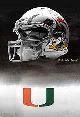 Miami Hurricanes football helmet #hurricanes