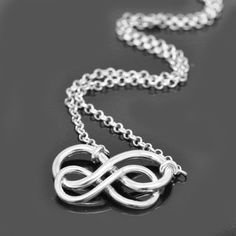 A personal favourite from my Etsy shop https://www.etsy.com/hk-en/listing/187952931/infinity-necklace-interlocking-circle