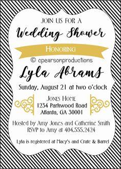 0c01bdb62d6 Black   White DIGITAL FILES Wedding Baby Shower Printables - Invitation