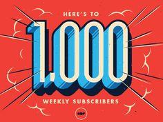 1000 by Ian Dickens #Design Popular #Dribbble #shots