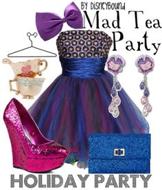 Mad Tea Party Holiday Party Edition by DisneyBound