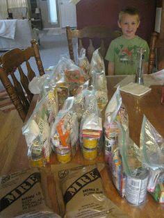 Kingsley Corner: Family Emergency Prep- 72 hour kits. I like some of her food ideas