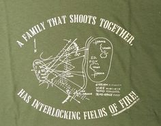 A Family that Shoots Together - has interlocking fields of fire...