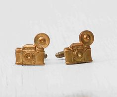 Vintage CAMERA Cuff Links Travel Bon Voyage by redtruckdesigns