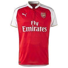 be90cb009ef Puma Arsenal Mens Home Shirt 2015/16 Red Short Sleeve Tee Top T Shirt  Football | English Clubs | Football Shirts