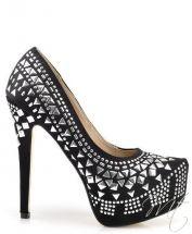 damske cierne satenove lodicky #pumps #shoes