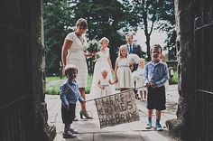 Here comes the bride hessian sign, via @JamesMelia