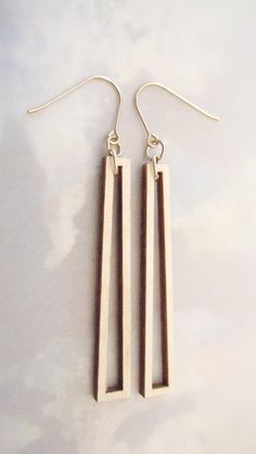 birch and gold earrings