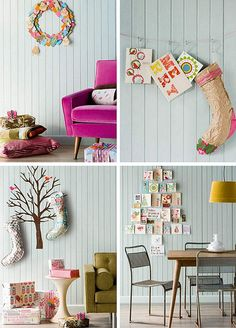 Card tree is a great way to display all the wonderful photo cards from friends!