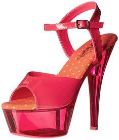Pleaser Women's Kiss209uvt/nhp/m Platform Sandal * For more information, visit image link.