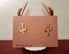 Vintage Collar Brooch Cactus  22kt gold brass di NunaSan su Etsy