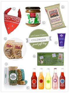 100 Layer Cake's 'welcome to colorado' gifts for tote bags to give when guests check in to their hotels