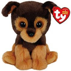 39caf14d525 Amazon.com  Ty Beanie Babies Tucker The Brown Dog Plush  Toys   Games