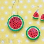 Quilled Watermelon Pendant
