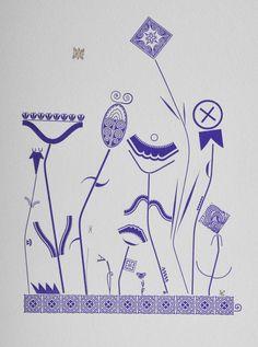 Typografische Blumenwiese - per Hand gesetzt und gedruckt  von Hans Bote im Museum für Druckkunst mit historischen Bleisatz-Schmuckelementen aus der Sammlung, 2015, limitierte Auflage von 50 Exemplaren. Erhältlich im Museumsshop. #letterpress # Buchdruck /// Foto: Museum für Druckkunst Leipzig