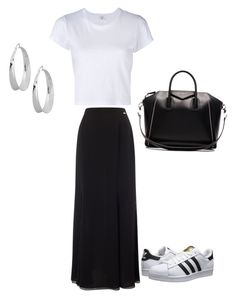 """Mom's outfit today 6.16.16"" by fashionqueen1995 on Polyvore featuring RE/DONE, Jacques Vert, adidas Originals, Givenchy and Robert Lee Morris"