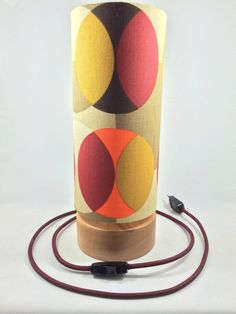 Handmade circular Vintage style table lamp by Lambater on Etsy, €115.00
