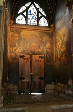 Interior of the Church of Saint-Séverin, a Roman Catholic church in the Latin Quarter of Paris