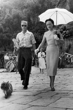 JULY 17 1951 - In Portofino with their dog Thalmet. Wallis Simpson Fashion & Style Icon (Vogue.com UK) | British Vogue