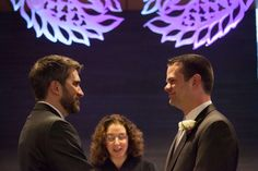 Steven Austin and Michael Pirkle are pictured during their wedding at City Hall on December 2012 in Seattle, Washington. The two have been together for 12 years. Today is the first day that same-sex couples can legally wed in Washington state. Washington State, Seattle Washington, In This World, Two By Two, Grooms, Couples, People, Movie Posters, Washington