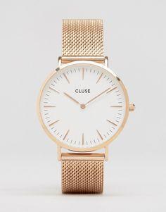 CLUSE La Boheme Mesh Rose Gold Watch