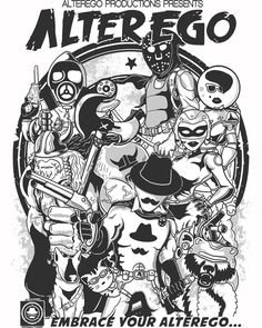Winner of the Top 9 January 2014: ALTEREGO PRODUCTIONS Comic Book-inspired graphic t-shirt design by methlop