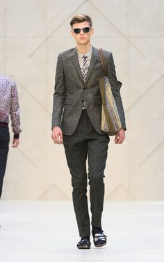 The Burberry Prorsum Spring/Summer 2013 show | Focus on the bag. Don't be distracted by the sandal/socks combination... @Burberry