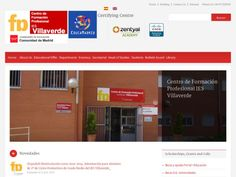 La web del centro de formación profesional IES Villaverde ofrece información sobre la oferta educativa, los departamentos del centro y las becas erasmus.