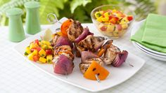 Lime Chicken Kebabs with Mango Salsa. Ready in 35 min. Total Cost: $6.57