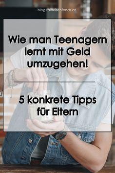 Hier finden Sie konkrete Tipps, wie man Teenagern den Umgang mit Geld beibringt! #taschengeld #jugendliche #teenager #selbstständig #erwachsenwerden #pubertät #eltern #familie #kinder #kind #großwerden #eigenesgeld #ansparen #finanzen #geld #sparen #anlegen #fonds #investieren Teenager, Alternative, T Shirt, Money Plant, Become A Millionaire, Positive Changes, Supreme T Shirt, Tee Shirt, Tee