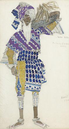 Léon Bakst (1866-1924) - COSTUME DESIGN FOR LE DIEU BLEU