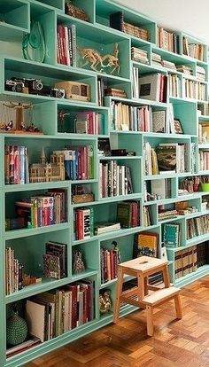 Unconventional book shelf
