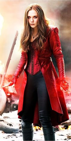 The Scarlet Witch played by Elizabeth Olsen. The Avengers: Age of Ultron - Visit to grab an amazing super hero shirt now on sale! Scarlet Witch Marvel, Scarlet Witch Costume, Marvel Comics, Marvel Heroes, Marvel Dc, Captain Marvel, Marvel Women, Marvel Girls, Wanda Marvel