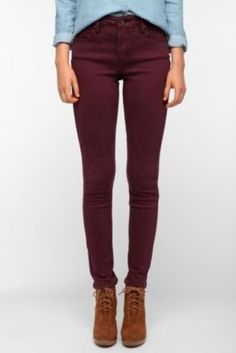 Cranberry jeans for fall!...or all year.