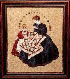 The Quiltmaker by Lavender and Lace - Cross Stitch Kits & Patterns