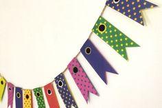 女の子だって飾って欲しい!ポップな柄の折り紙でこいのぼりガーランド