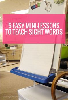 How to teach sight words in five days for 5 minutes in kindergarten