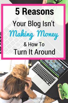 Having trouble making money blogging? I'll help you turn it around!