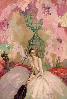 Jean-Gabriel Domergue : A l'Ombre d'une Jeune Fille en Fleur 1922