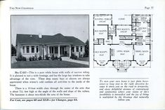 #love the #turret style frontage on this great looking #bungalow vintage #houseplan . Self notes: I would remove central hall - allowing for proper entryway with powder room and closet. Eliminate breakfast nook and expand kitchen within this area, still allowing former dining area. Reconfig bedrooms, sleeping porch and bath to allow for master suite and guest room with bath. Add screened back porch. https://flic.kr/p/6uSUeW | img173