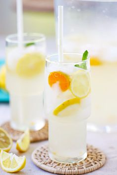Coconut Water Lemonade - amazing and refreshing lemonade made with coconut water and fresh lemon juice. The best lemonade recipe ever!