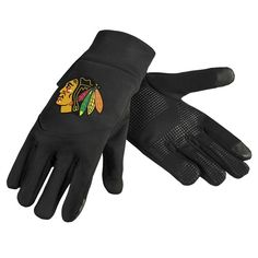 Chicago Blackhawks Team Logo Technology Touch Texting Gloves
