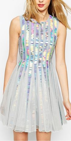holographic sequin dress I'd like this in black