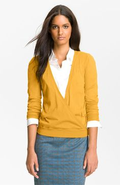 Halogen® Faux Wrap Sweater available at Nordstrom
