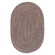 Blossom Braided Rugs Moonstone 6 Round Braided Rug By