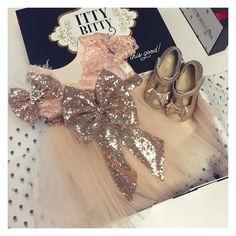 Custom Aisha Rose Gold Dress with matching shoes and headpiece   Shop: http://ift.tt/1rqz3H7