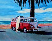 O Surf Series Bus - A Volkswagen Red Surf Bus - cópia da edição limitada