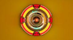 kiameku:  Kim SoojaMandala: Zone of Zero (Yellow)2004–2010Juke Box Speaker, Tibetan, Gregorian, and Islamic Chants mixedJuke box: 90cm diameter, 30.5cm deep