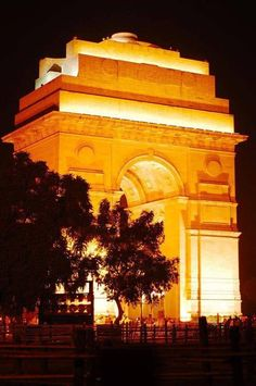 Illuminated India gate , New Delhi.